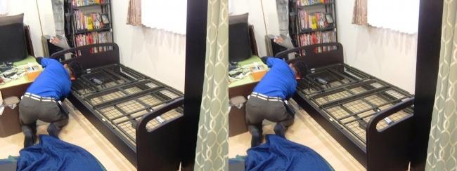 ベッド設置作業③(交差法)