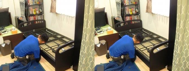 ベッド設置作業②(平行法)