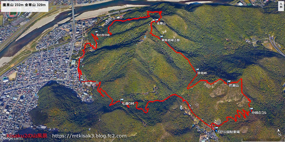 20200111金華山ルートマップ