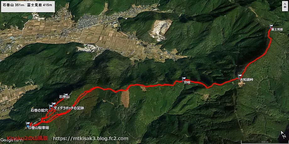 20200201石巻山_富士見岩ルートマップ