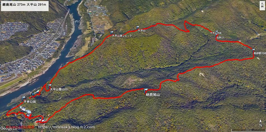 20200211継鹿尾山ルートマップ