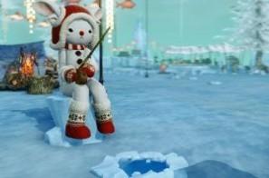 基本プレイ無料の自由系オンラインRPG、アーキエイジ、魚型家具を手に入れよう♪真冬を楽しむイベント「鏡の王国の氷上釣り祭」を開催したよ