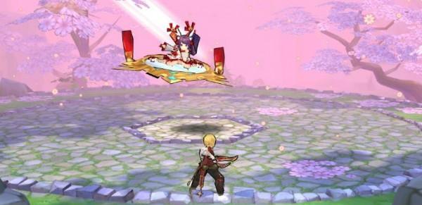 基本プレイ無料のクロスジョブファンタジーRPG、アッシュテイル-風の大陸-、新ダンジョン「武装の秘境・桜の章」を実装したよ