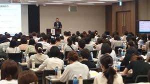 未来のトップアスリートのための体感型スポーツセミナー_東京会場_スピーチの模様