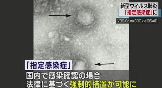 指定感染症 新型コロナウイルス 感染症法