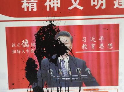 習近平のポスターに墨汁をぶちまけ「独裁に反対する」とのパフォーマンスをしていた女性、拘束されて精神病院に→ 1年半ぶりに戻ってきたが言葉を全く話さず、全くの別人に