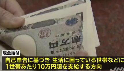 政府与党、新型コロナ拡大に伴う経済対策で、生活困窮世帯などに世帯あたり10万円超の現金を支給する方向で調整 … 岸田政調会長「日本のGDP10%に及ぶ経済対策を用意できるのではないか」