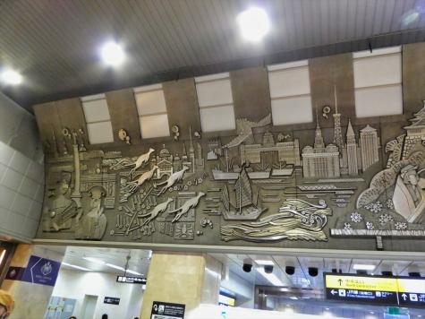 JR 大阪駅のレリーフ