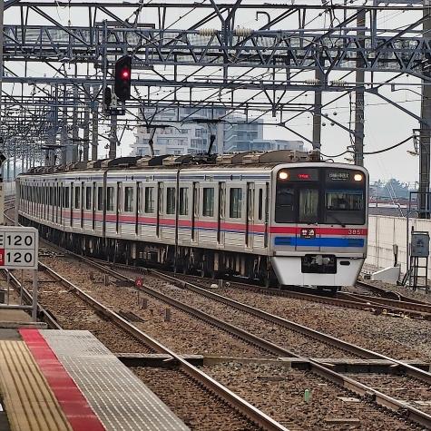 京成電鉄 3700形 電車【新鎌ヶ谷駅】