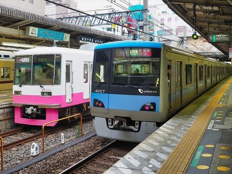 小田急電鉄 4000形 電車【松戸駅】