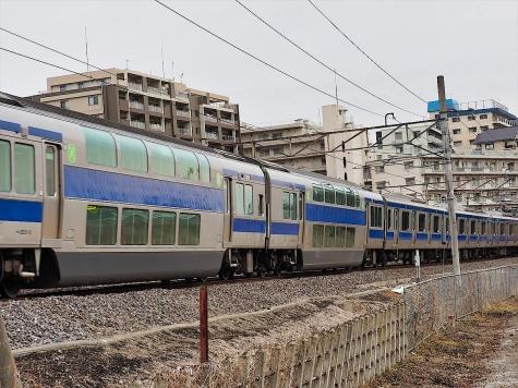 JR 常磐線 E531系 電車【千波湖付近】