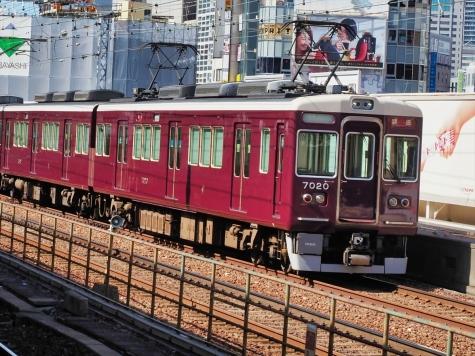 阪急電鉄 7000系 電車【三ノ宮駅】