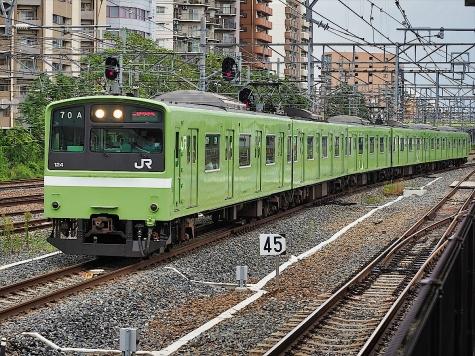 JR おおさか東線 201系 電車【新大阪駅】