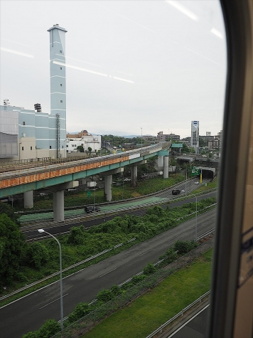 吹田JCT【大阪モノレールの車窓から】