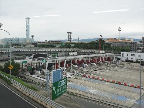 吹田本線料金所【大阪モノレールの車窓から】