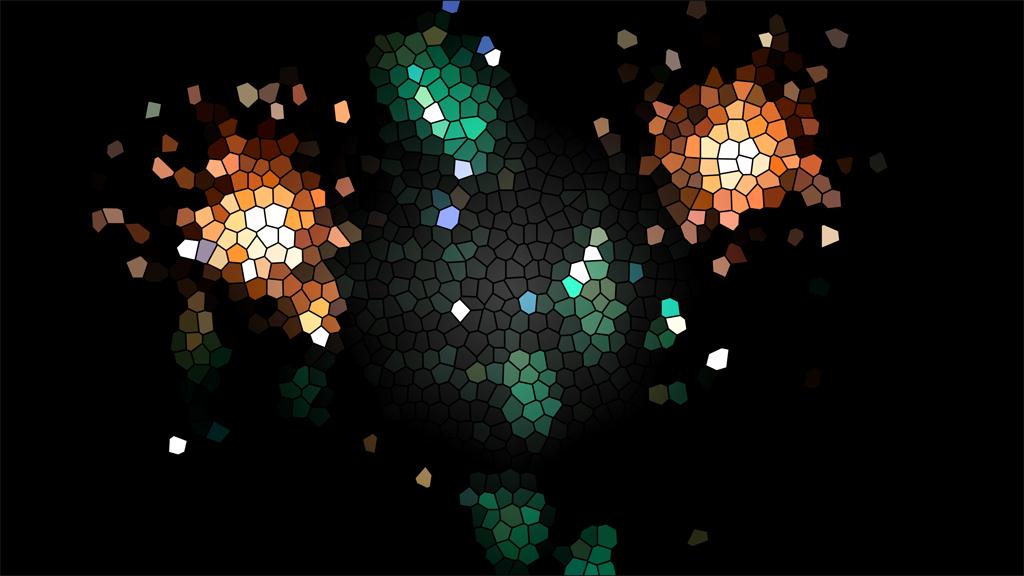 ステンドグラス用デザイン(マーメイドラグーンからの花火のイメージ)