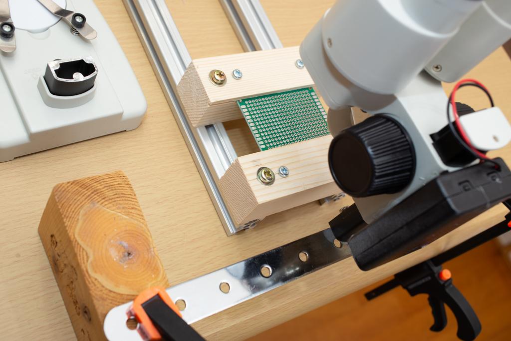 はんだ付け用実体顕微鏡改造第一弾
