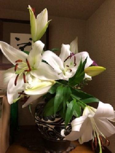開花した百合
