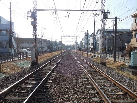 小田急江ノ島線の相模大野5号踏切@相模原市南区e