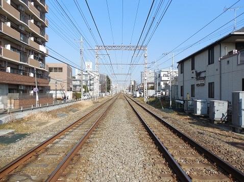 小田急江ノ島線の相模大野5号踏切@相模原市南区d