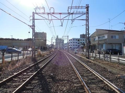 小田急江ノ島線の長後5号踏切@藤沢市e