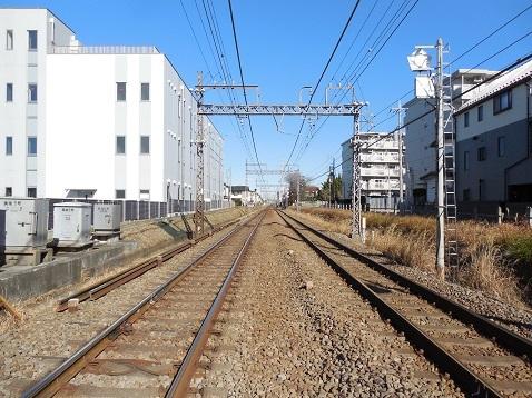 小田急江ノ島線の長後5号踏切@藤沢市d