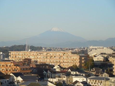 舞岡ふるさとの森から見た富士山@横浜市戸塚区a