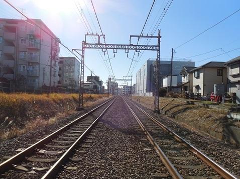 小田急江ノ島線の長後4号踏切@藤沢市e