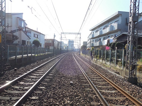 小田急江ノ島線の高座渋谷11号踏切@藤沢市e
