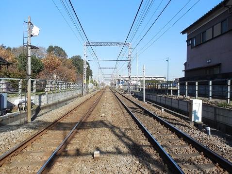 小田急江ノ島線の高座渋谷11号踏切@藤沢市d