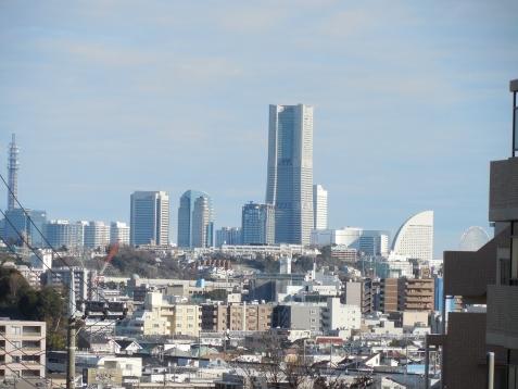 餅井坂から見たみなとみらい地区@横浜市南区b