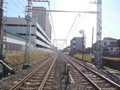 小田急江ノ島線の高座渋谷4号踏切@大和市d