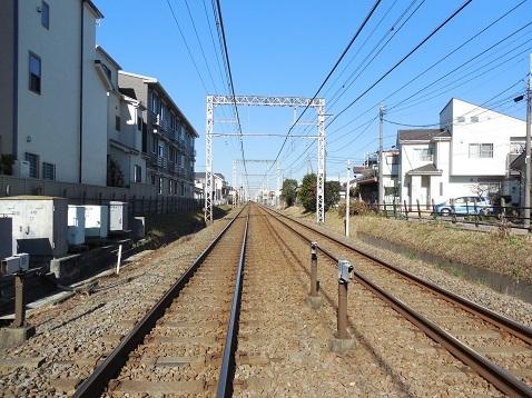 小田急江ノ島線の高座渋谷4号踏切@大和市c