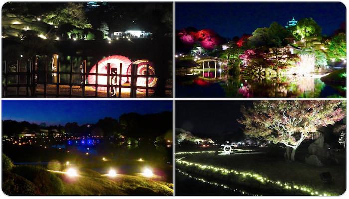 岡山 幻想庭園 後楽園(岡山城)