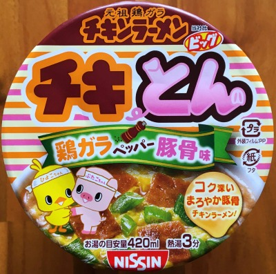 NISSIN チキとん 鶏ガラペッパー豚骨味