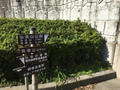 弘法山登山口案内板