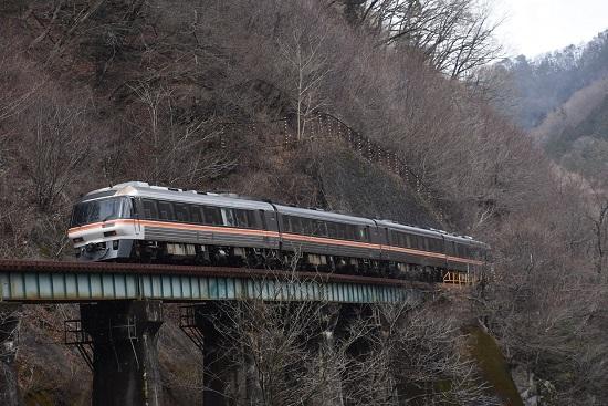 2020年2月23日撮影 高山本線 8081D キハ85系「WVひだ81号」後撃ち