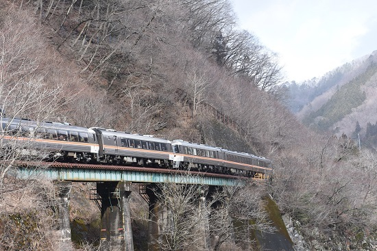 2020年2月23日撮影 高山本線 1027D キハ85系「WVひだ7号」後撃ち