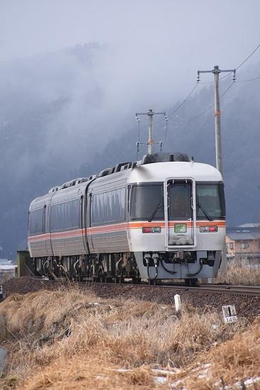 2020年2月23日撮影 高山本線 1031D キハ85系「WVひだ11号」後撃ち