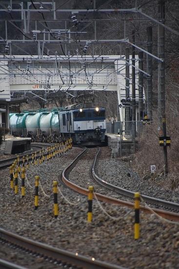 2020年2月29日撮影 西線貨物6088レ 日出塩駅通過
