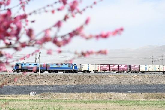 2020年3月21日撮影 東線貨物2083レ EH200-16号機 梅の花と