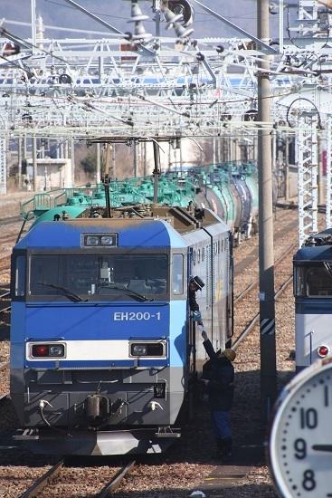 2020年2月29日撮影 南松本にて東線貨物2080レ メモ渡し
