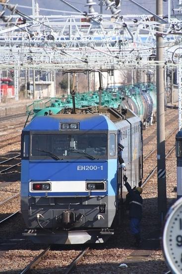 2020年2月29日撮影 南松本にて東線貨物2080レ 無線機渡し