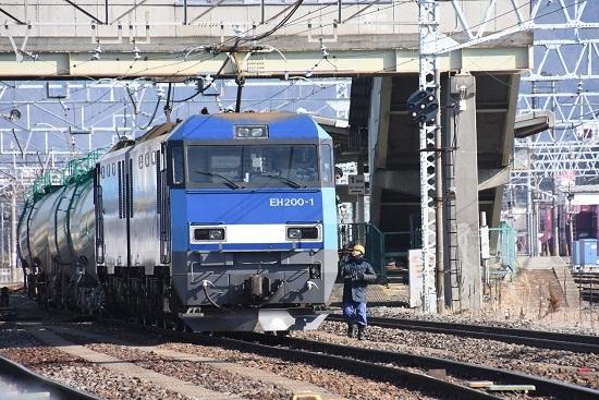 2020年2月29日撮影 南松本にて東線貨物2080レ 機回し 無線機返却
