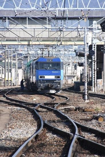 2020年2月29日撮影 南松本にて東線貨物2080レ 発車待ち