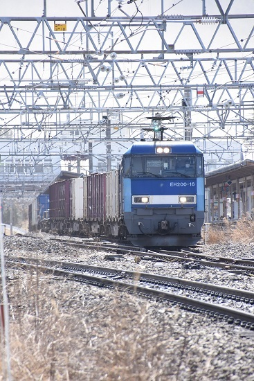 2020年3月21日撮影 東線貨物2083レ EH200-16号機 スパーク