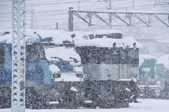 2020年3月29日撮影 南松本にてEH200-15号機とEF64-1002号機
