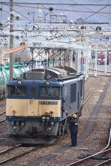 2020年2月22日撮影 南松本にて西線貨物8084レ 機回し 無線機渡し