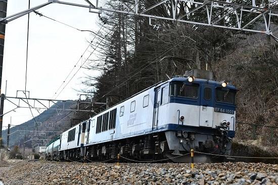 2020年2月29日撮影 西線貨物6088レ EF64-1002号機