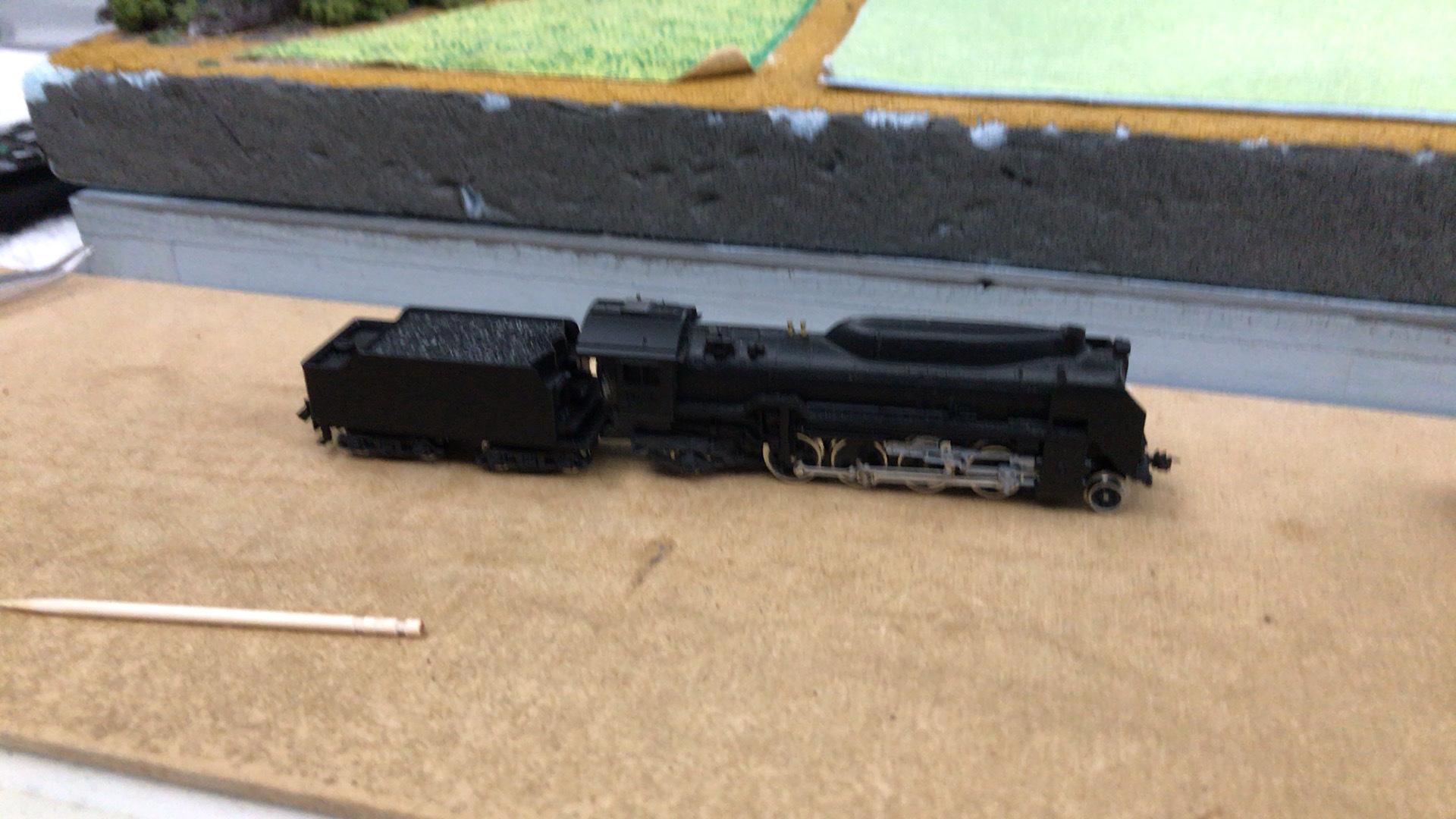 走行不能だったD51-2を整備しました。
